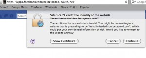 Heinz SSL error