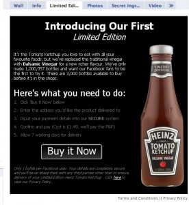 Heinz limited edition ketchup