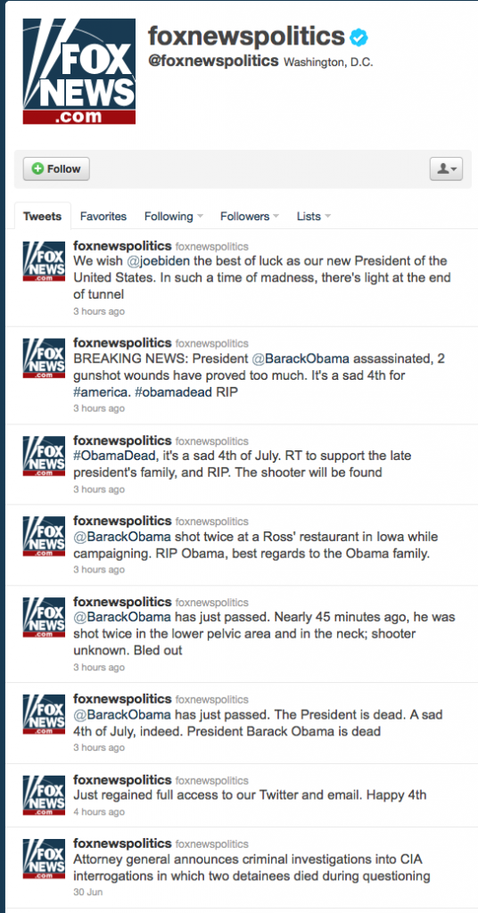 Foxnewpolitics twitter account