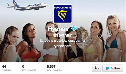 Ryanair's twitter a/c September 2013